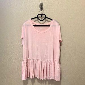 Mossimo blush pink babydoll t shirt plus size XXL